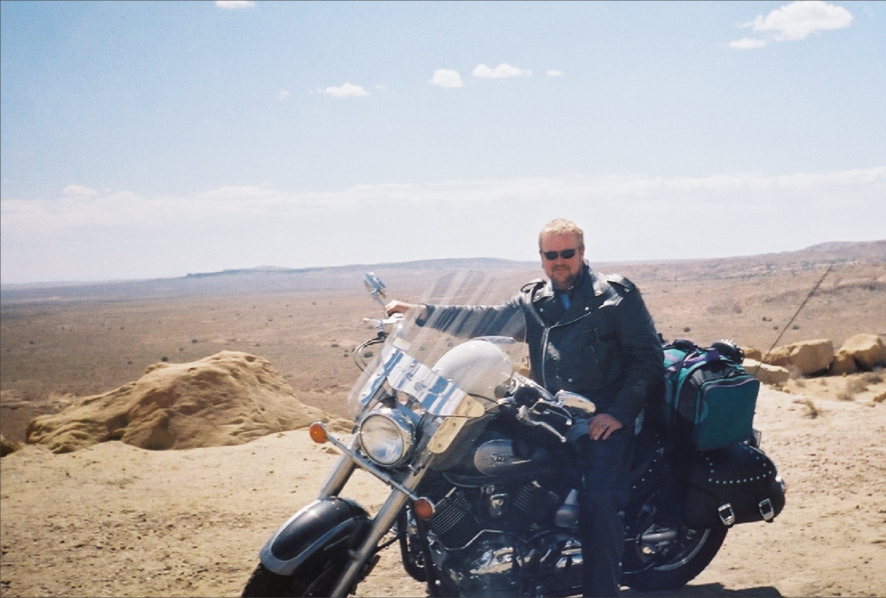 Russ at stop on Hopi Lands